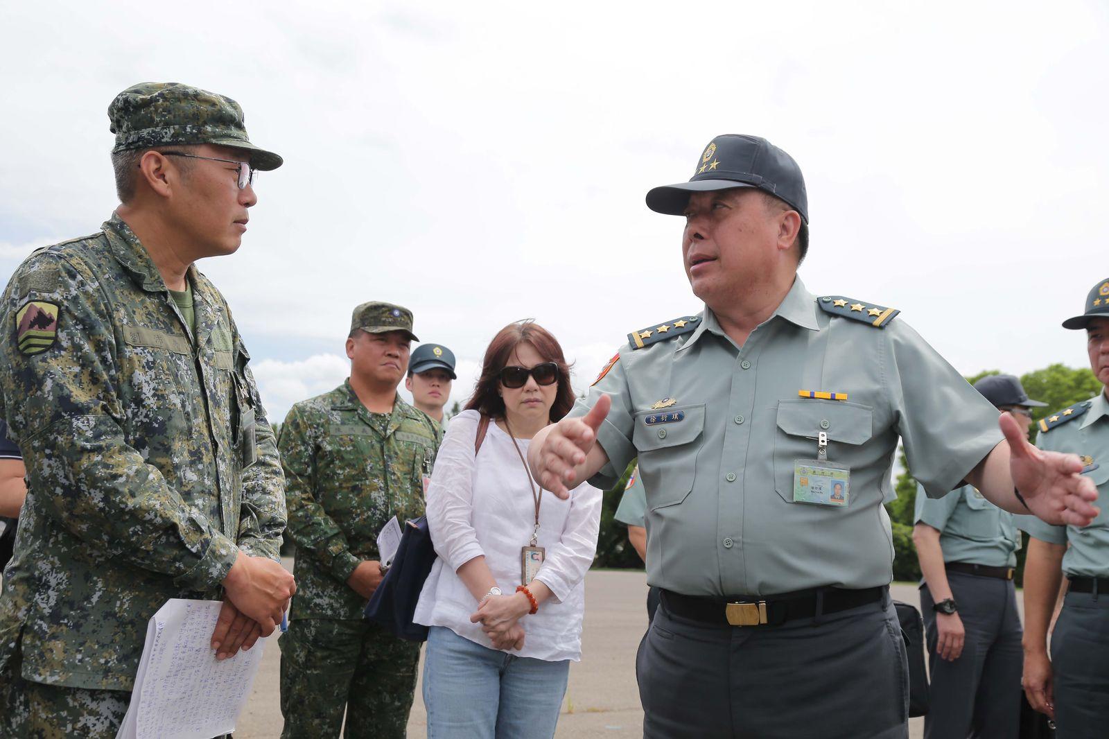 GEN Hsu, VCGS/Executive, inspected Cheng kung ling Barracks' exercise preparation