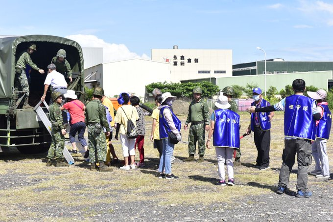 Changhua County Government held Ming-An Civil Defense Exercise