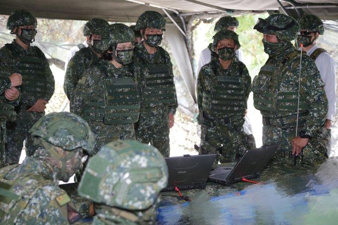 "President Tsai inspected ""Joint Counter Landing Operation"" of HK36 Exercise"