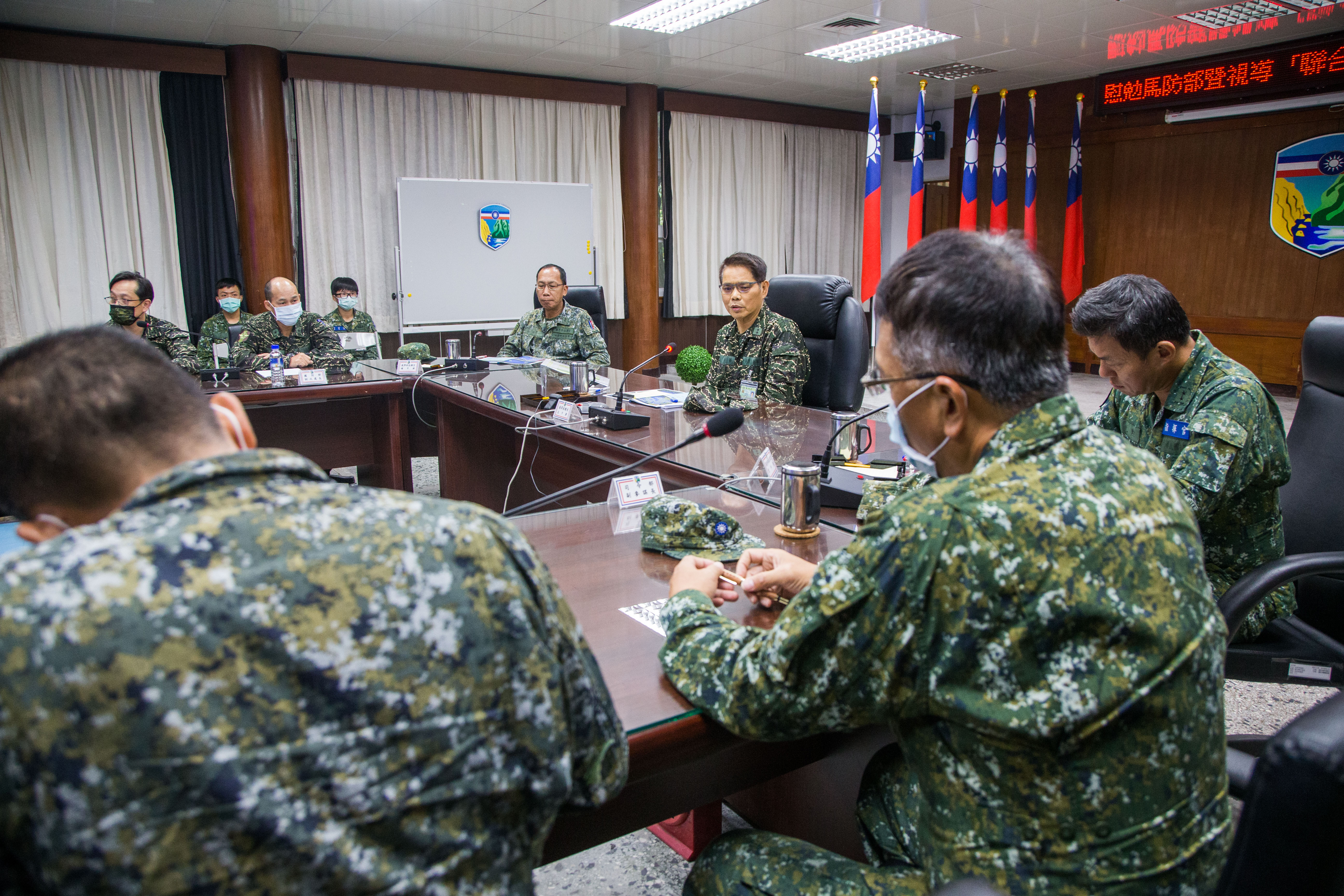 VCGS-Navy Inspected Matsu Anti-Landing Drills and Recognized Troops' Training Commitment