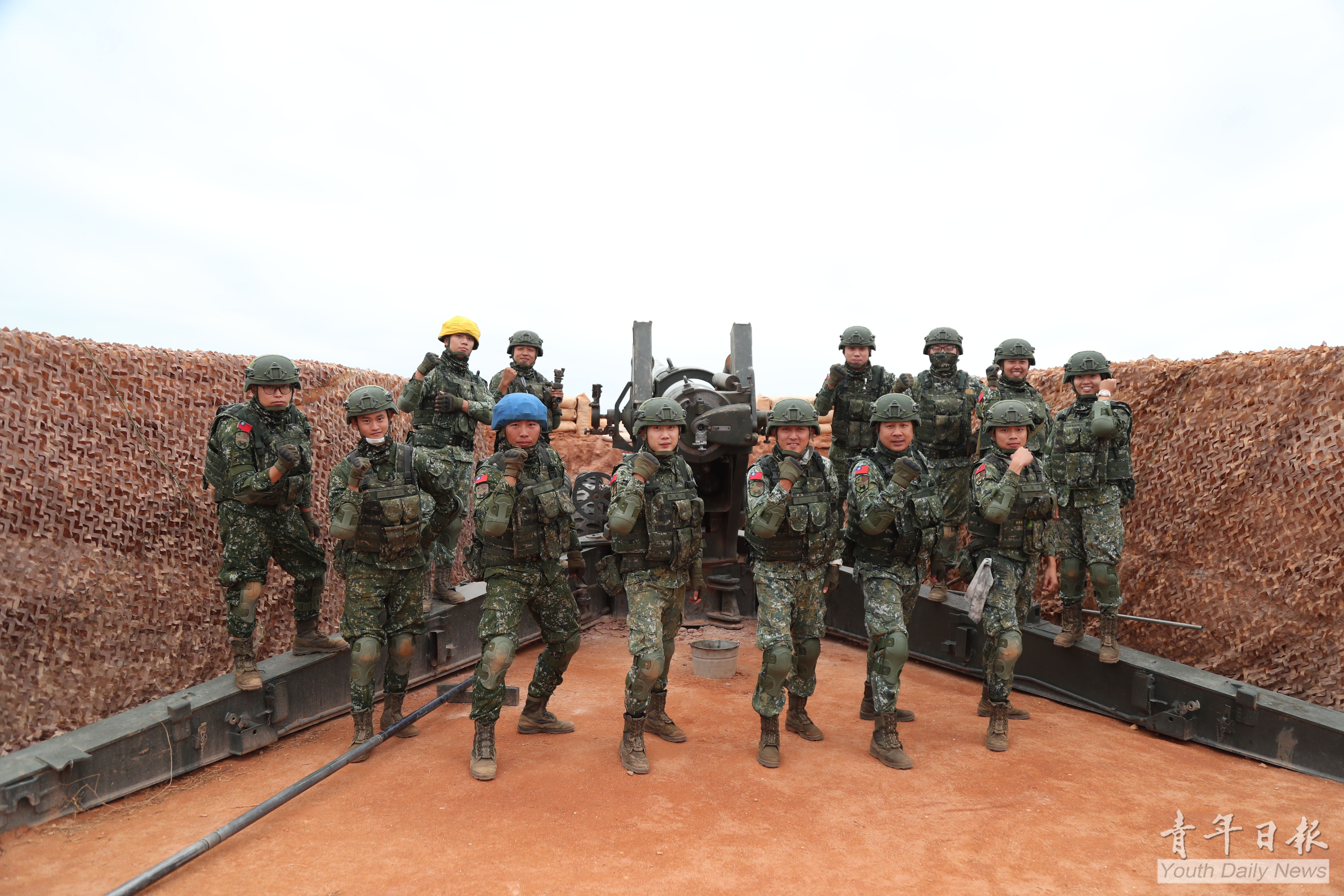 Kinmen Defense Command Holds Counter-landing Drill with Morning Artillery Live-fire Breaking Sky