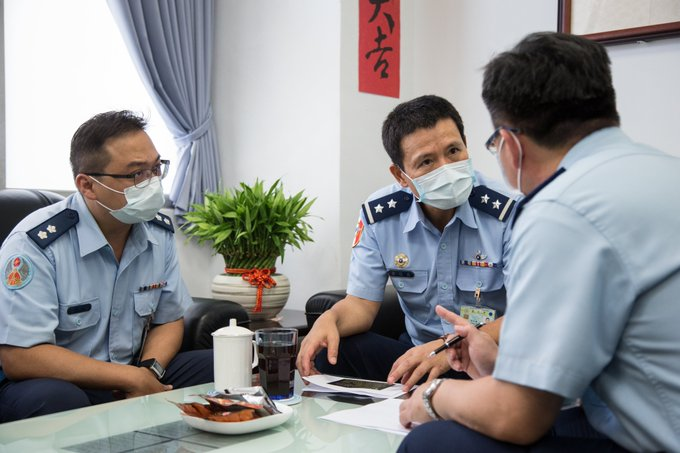 The VCGS-Air Force inspected Northern Taiwan Air Force units