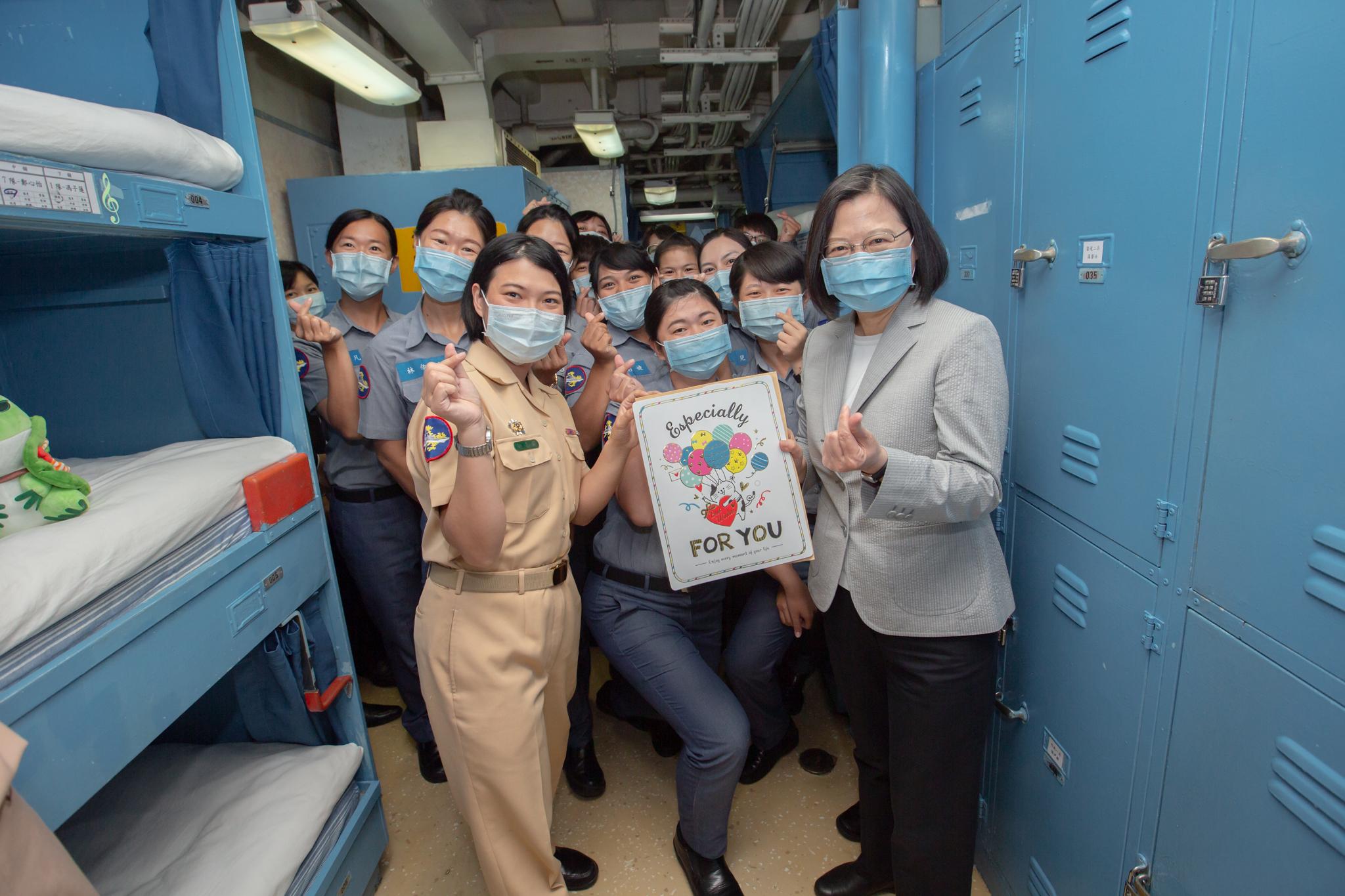 President Tsai Visited Peng-Hu Garrison Units to Recognize Contribution