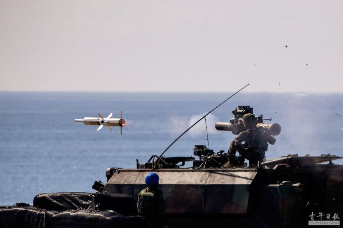 ROCA conducted a live-fire missile drill this week in Jiou-Peng Base