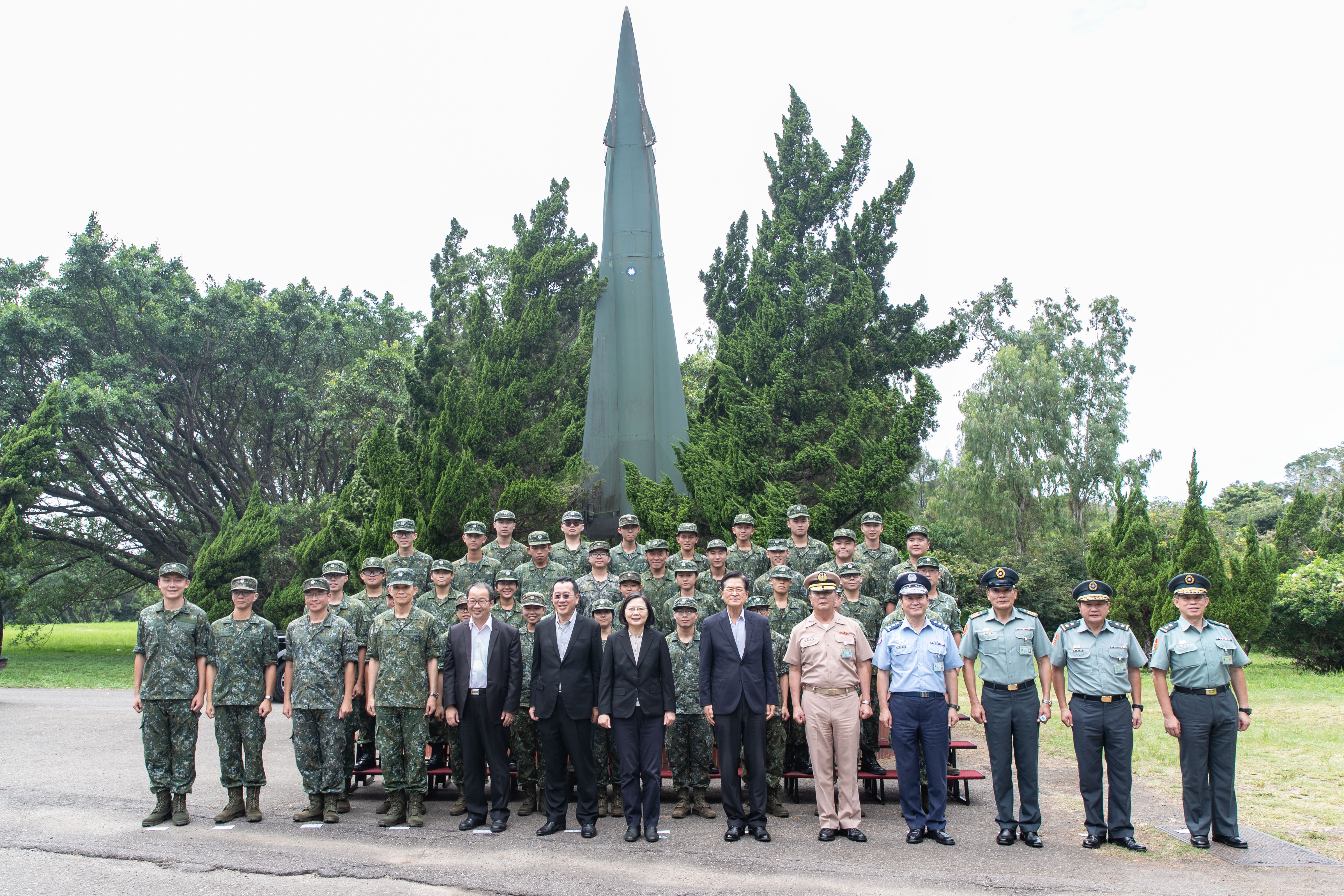 President Tsai Inspects SAM Batteries and Reiterates Faith and Determination of Homeland Defense