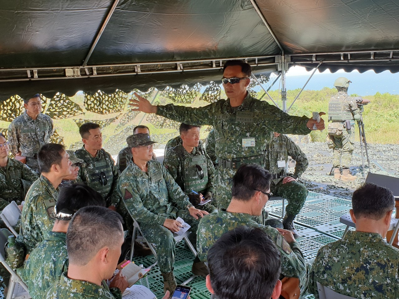With the HK 36 coming, all theaters of operations continue their preparedness and commanders' inspection