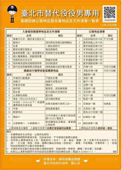 臺北市恢復辦理役男入營前座談會 解答役男疑惑