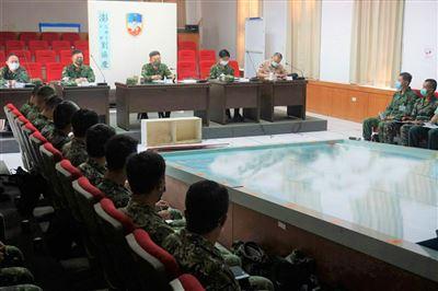 第1作戰區圖上兵推驗證現地偵察成果
