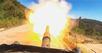 584旅聯兵1營戰力測火砲射擊精準命中