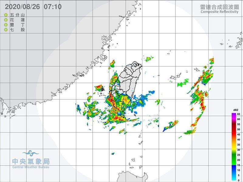 南臺灣豪雨特報 臺南、高雄淹水警戒2