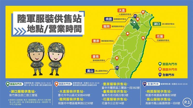 陸軍服裝供售站15日全面營運 申購軍品更輕鬆1
