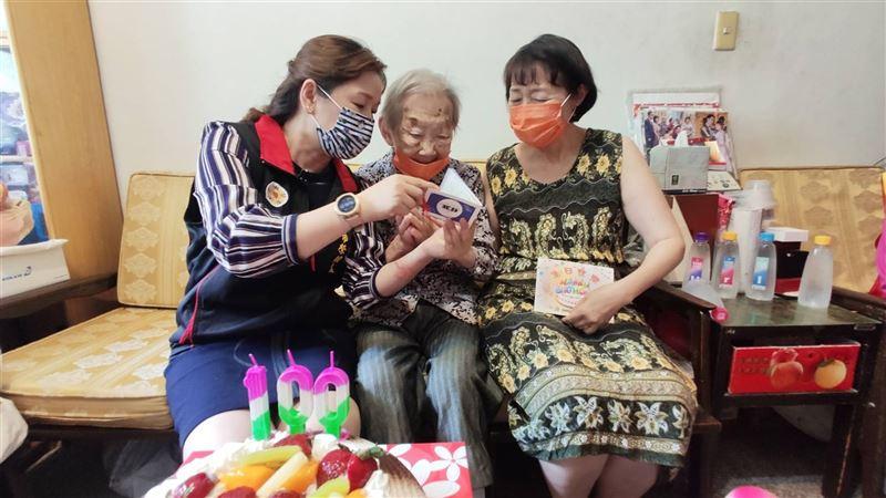 北榮處慶賀邵胡錦秀奶奶100歲嵩壽2