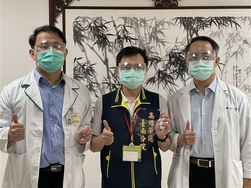 勝利電台捐防疫物資 挺高榮臺南分院抗「疫」2