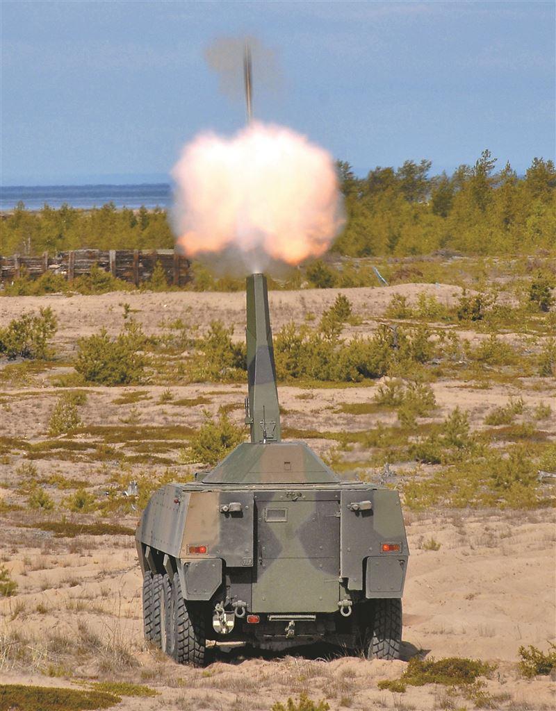 【武備巡禮】火力強大「打了就跑」 芬蘭NEMO/AMOS迫砲系統1